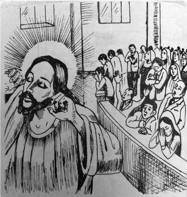 Cristo disgustado, ¡Escucha cristiano! p. 8, reproducida con el permiso de la Fundación del Sinú.